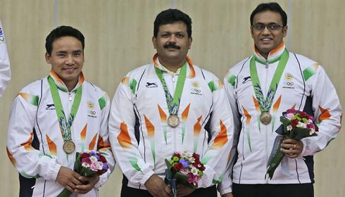 Jitu Rai, Samaresh Jung, Prakash Nanjappa Papanna