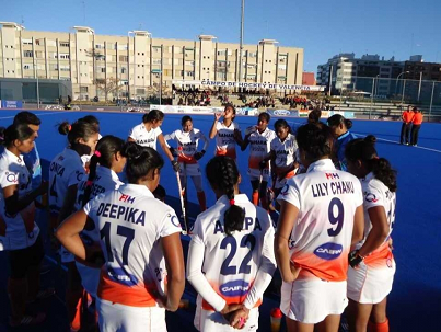 Indian women Hockey team at Spain