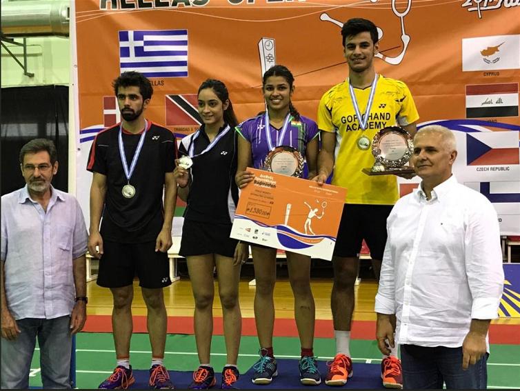 Rohan Kapoor and Kuhoo Garg  win Hellas Open mixed Doubles Title
